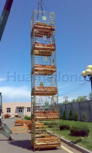 Folding Rolling Metal Steel Storage Wire Mesh Cages with Wheels pictures & photos