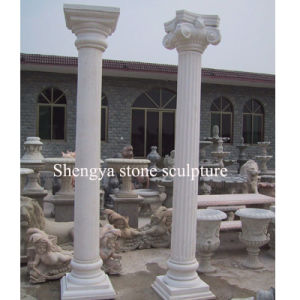 White Marble Stone Sculpture Column (SY-C013) pictures & photos