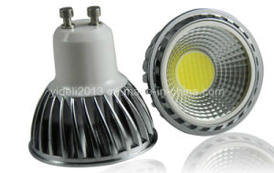 New Dimmable COB LED Bulb Spotlight GU10 5W pictures & photos
