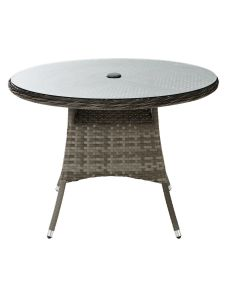 Well Furnir T-014 Grey Color Stylish Chair & Round Tables Durable 5 Piece Rattan Dining Set pictures & photos