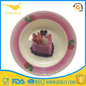 China Factory Melamine Canape Cake Plate for Kid pictures & photos