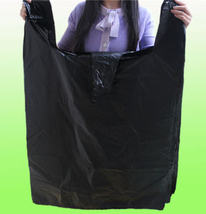 HDPE Black Plastic Garbage Bag/Shopping Bag in Roll pictures & photos