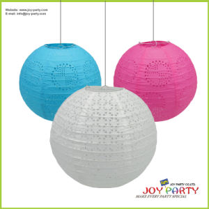 Eyelet Round Paper Lanterns for Decoration pictures & photos