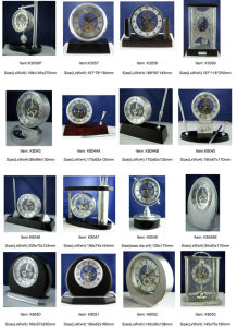 Rotating Pendulum Lantern Skeleton Mantel Clock pictures & photos