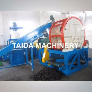 Two Roll Rubber Shredder for Tire Recycling Production Line pictures & photos