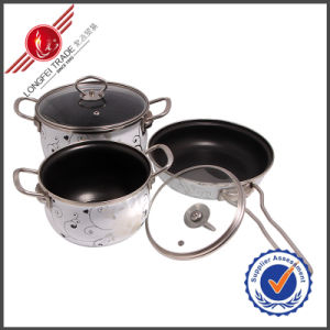 3 PCS Kitchenware Enamel Cookware Set Sauce Pan pictures & photos