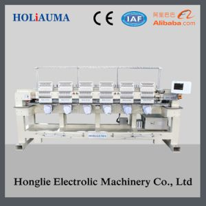 Touch Screen High Speed Tubular 6 Head Computer Embroidery Machine Price pictures & photos