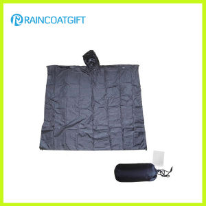 Waterproof 100% Polyester PVC Coating Reusable/Foldable Rain Poncho Rpy-026 pictures & photos