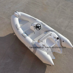Liya 3.8m Inflatable Hard Bottom Boats Semi-Rigid Hypalon Boat pictures & photos