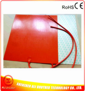12V 550W 600*600*1.5 mm Silicone Rubber Heater for 3D Printer pictures & photos