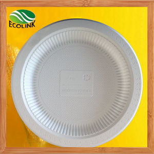 9 Inch Disposable Biodegradable Cornstarch Plate pictures & photos