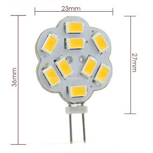 New 12V DC G4 3W LED Light 9X 5730 SMD LEDs Car Marine Light Bulb pictures & photos