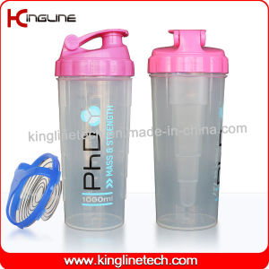 700ml Plastic Protein Shaker Bottle with Stainless Blender (KL-7007) pictures & photos