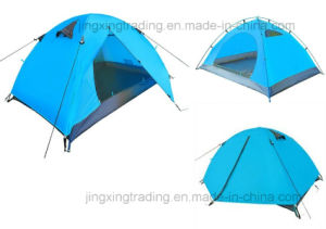 Waterproof Durable Polyester Camping Tent for 1-2 Persons (JX-CT025-2) pictures & photos