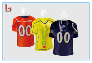 Custom Football T Shirt Shape Foldable Water Bag Bottle pictures & photos