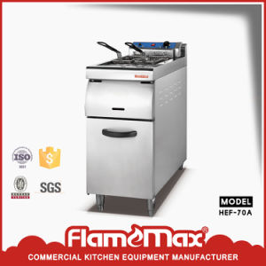 1 Tank 2 Basket Electric Fryer with Cabinet (HEF-70A) pictures & photos