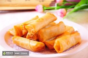 HACCP Brc Certifacte Tsingtao Vegetable 40g/piece Spring Rolls in Frozen Cookin pictures & photos