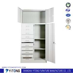 Yitong 3-Door 10-Drawer Metal Storage Cabinet / Office Use Steel File Cabinet pictures & photos