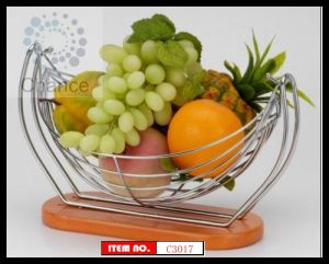 Bathroom Accessories Iron Chrome Fruit Basket (C3017)