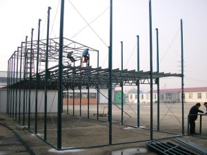 Prefab Steel Structure Factory Warehouse with Crane (Prefab Shed) pictures & photos