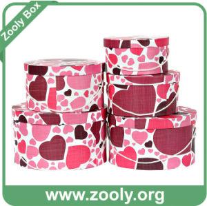 Round Paper Gift Box Storage Round Box Hat Box Set pictures & photos