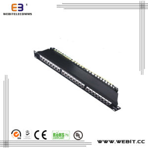 19′′ 1u 24 Ports FTP Cat5e Patch Panel with Cover pictures & photos