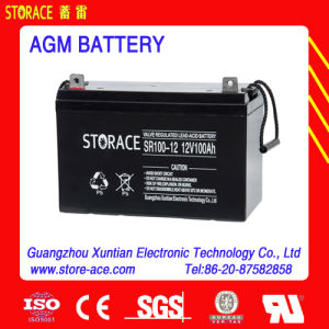 Maintenance Free AGM Battery 12V 100ah for Industrial pictures & photos