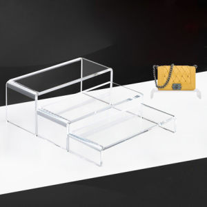 Factory Customized Transparent Acrylic Shoes Display Rack pictures & photos