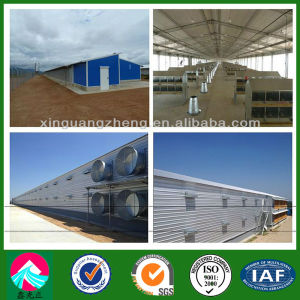 Angola Roof Trusses Steel Structure Broiler Chicken House (XGZ-pH017) pictures & photos