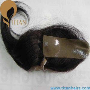 Indian Human Hair Toupee Full PU Hair Piece for Women pictures & photos
