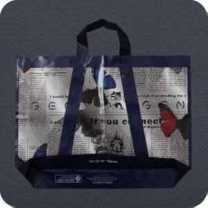 Plastic Soft-Loop Handle Bag with Bottom Gusset pictures & photos