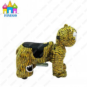 Finego Plush Zippy Coin Operated Battery Furry Animal Riding Walking Ride pictures & photos