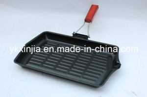 Kitchenware Carbon Steel Non-Stick Coating Steak Pan, Frying Pan, Cookware pictures & photos