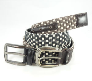 Newly-Designed Fashion Canvas-Leather Belt (EUBL0385-40)