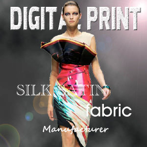 Digital Printed Satin Fabric pictures & photos