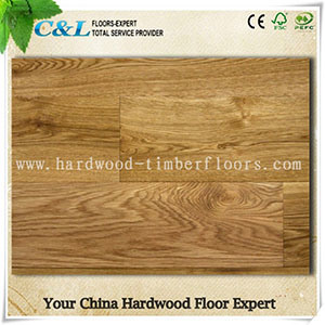 Favourable Black Colour Oak Engineered Wood Flooring pictures & photos