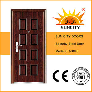 Small Exterior Door Photos Steel Door Design Wrought Iron Door Inserts (SC-S040) pictures & photos