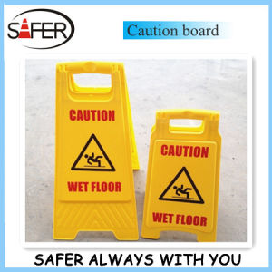 S-1631 Yellow Plastic Caution Board pictures & photos