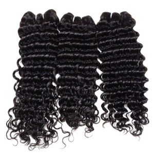 8A Brazilian Virgin Hair Deep Wave 4PCS Brazilian Hair Weave Unprocessed Cheap Brazilian Curly Virgin Hair Brazilian Deep Wave pictures & photos