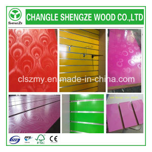 High Quality Melamine Slotted MDF Boards pictures & photos