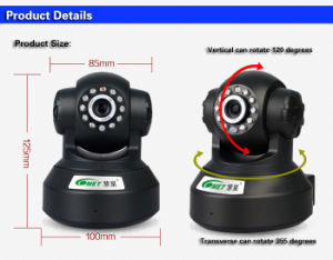 Indoor WiFi Wireless Pan Tilt Speaker Mic P2p Mini Dome IP Camera with SD Memory Card pictures & photos
