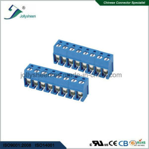 PCB Screw Terminal Blocks Pitch 5.0mm 8p 90deg Type with Blue Housing pictures & photos