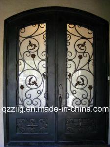 Iron Door with Eyebrow Top (ZY-IR087)