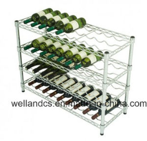 Adjustable K/D Metal Chrome Wine Rack Shelf for Hotel/Restaurant (WR903590A4C) pictures & photos