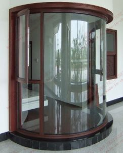 Powder Coating Curved Aluminum Window (BHA-CWA18) pictures & photos
