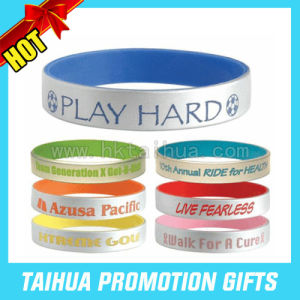 Cheap Custom Silicone Bracelets Spray Paint Wristband (TH-band044) pictures & photos