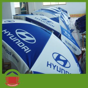 Beach Umbrella with Car Advertisement pictures & photos