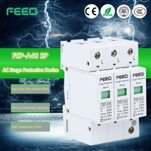 Photovoltaic SPD 30-60A 2p-3p 600V-1000V Solar Surge Arrester pictures & photos