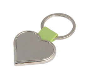 Heart Shape Laser Print Customer Logo Metal Key Holder (F1038A) pictures & photos