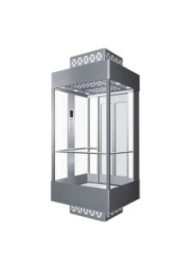 Gearless Observation Glass Passenger Lift Factory Price pictures & photos